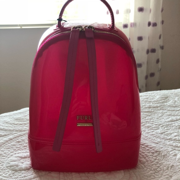 NWT FURLA Candy Small Backpack in pink 8edfb7df64d64